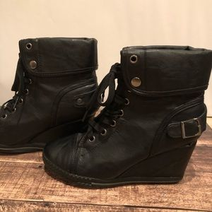 Black Wedge Sneakers by Bucco Size 6 Nordstrom